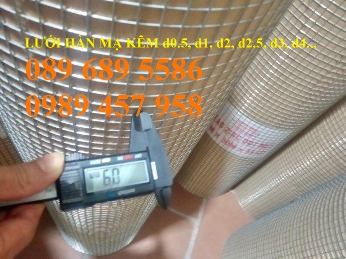Lưới hàn mạ kẽm nhúng nóng dây 1ly 12x12, 15x15, 20x20, Lưới cuộn 2ly 25x25 và 3ly 50x500, 50x1003