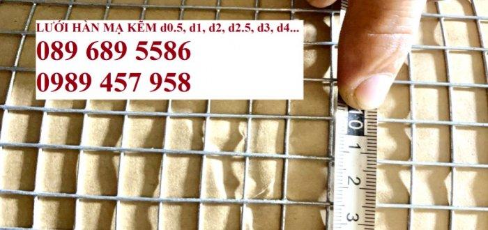 Lưới hàn mạ kẽm nhúng nóng dây 1ly 12x12, 15x15, 20x20, Lưới cuộn 2ly 25x25 và 3ly 50x500, 50x1002