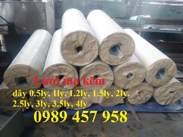 Lưới hàn mạ kẽm nhúng nóng dây 1ly 12x12, 15x15, 20x20, Lưới cuộn 2ly 25x25 và 3ly 50x500, 50x1001
