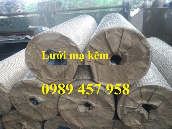 Lưới hàn mạ kẽm nhúng nóng dây 1ly 12x12, 15x15, 20x20, Lưới cuộn 2ly 25x25 và 3ly 50x500, 50x1000