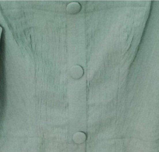 Áo Croptop dài tay màu xanh thời trang tự thiết kế A4.21