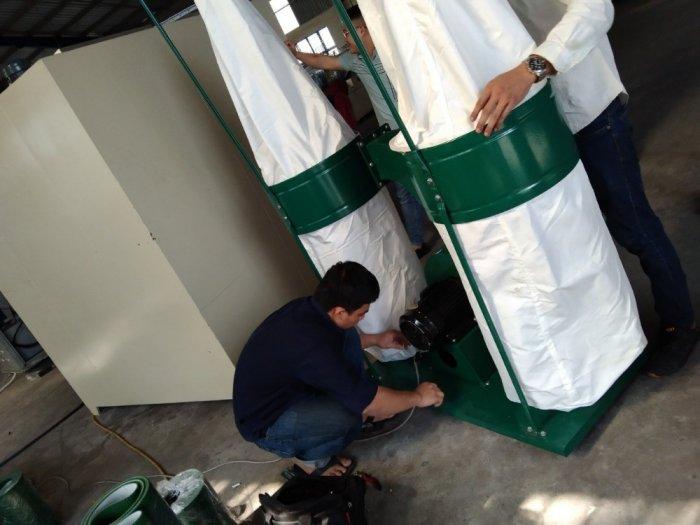 Máy hút bụi 2 túi vải công nghiệp 3kw,5,5kw giá rẻ dành cho xưởng gỗ bình dương11