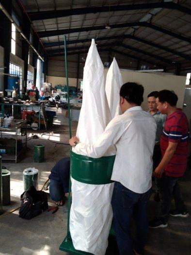 Máy hút bụi 2 túi vải công nghiệp 3kw,5,5kw giá rẻ dành cho xưởng gỗ bình dương7