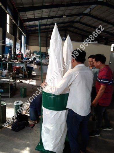 Máy hút bụi 2 túi vải công nghiệp 3kw,5,5kw giá rẻ dành cho xưởng gỗ bình dương5