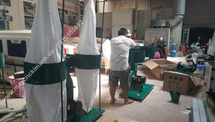 Máy hút bụi 2 túi vải công nghiệp 3kw,5,5kw giá rẻ dành cho xưởng gỗ bình dương3