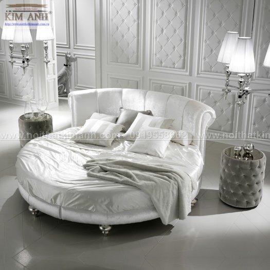 Mẫu giường tròn hiện đại, sang trọng được nhiều người ưu chuộng10