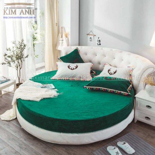 Mẫu giường tròn hiện đại, sang trọng được nhiều người ưu chuộng6