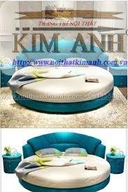 Mẫu giường tròn hiện đại, sang trọng được nhiều người ưu chuộng5