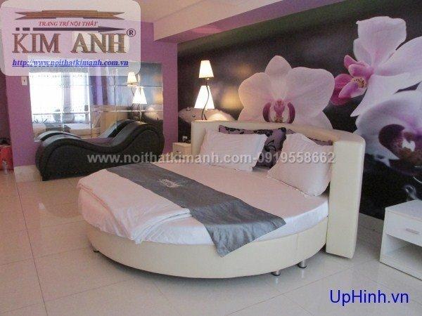 Mẫu giường tròn hiện đại, sang trọng được nhiều người ưu chuộng4