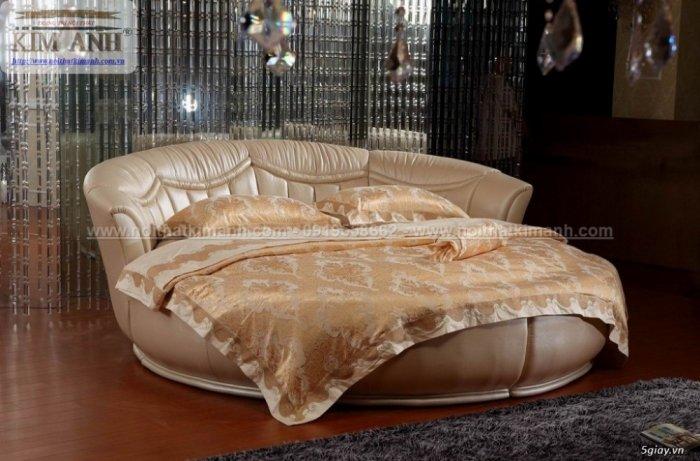 Mẫu giường tròn hiện đại, sang trọng được nhiều người ưu chuộng2