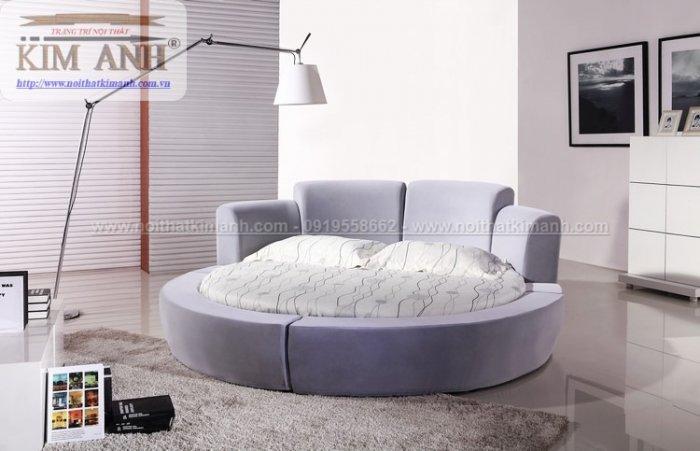 Mẫu giường tròn hiện đại, sang trọng được nhiều người ưu chuộng1