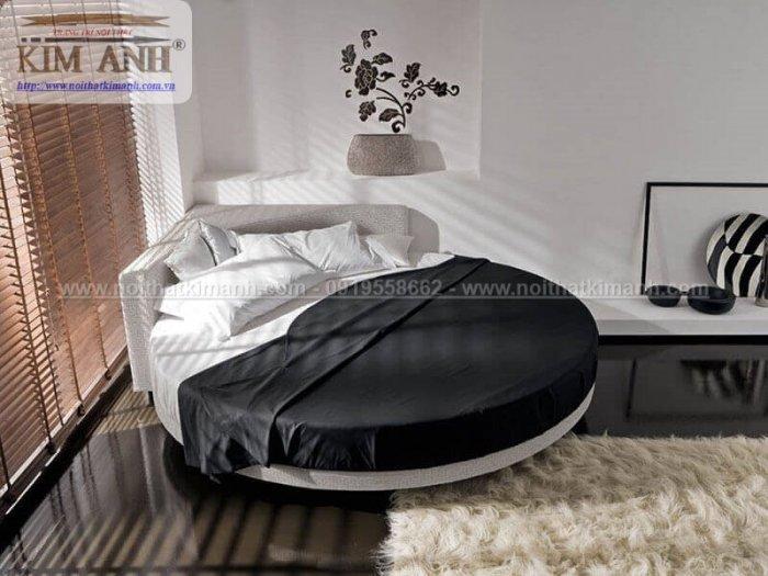 Mẫu giường tròn hiện đại, sang trọng được nhiều người ưu chuộng0