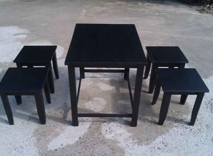 Cần thanh lý gấp 25 bộ bàn ghế quán cóc màu đen giá sỉ tại xưởng sản xuất anh khoa 45660
