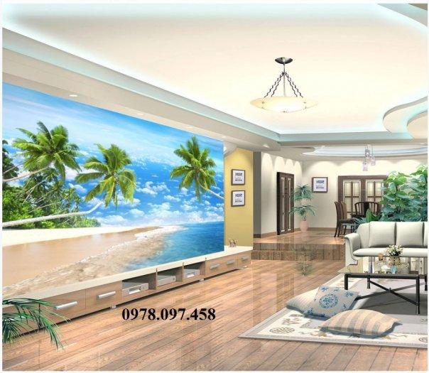 Tranh 3D - tranh thuyền và biển - tranh gạch2