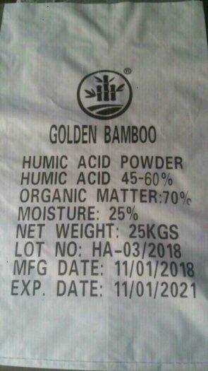Acid humic 40-50%, hữu cơ 70%0