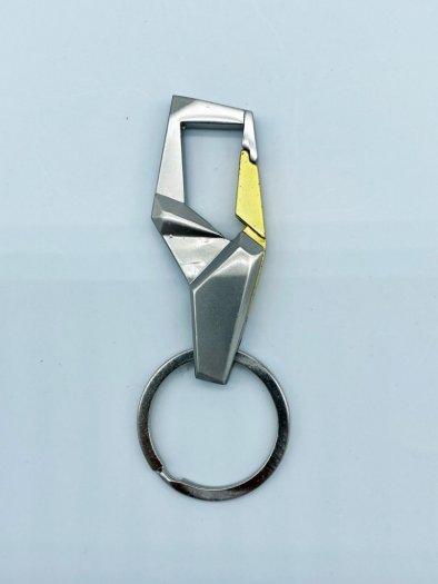 Móc Khóa hợp kim chất lượng không gỉ màu xám MK0010