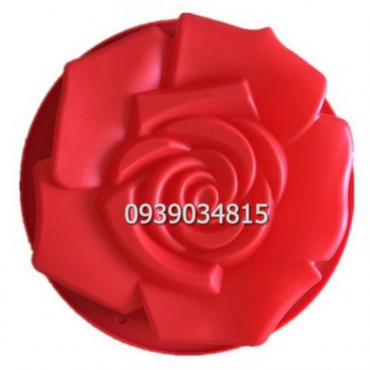 Khuôn silicon làm rau câu, làm bánh hoa hồng đại - Loại 30 cm9