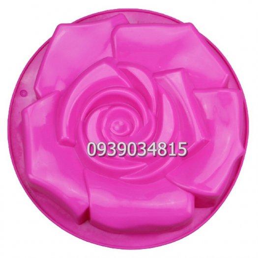 Khuôn silicon làm rau câu, làm bánh hoa hồng đại - Loại 30 cm8