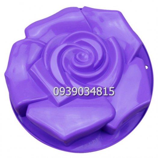 Khuôn silicon làm rau câu, làm bánh hoa hồng đại - Loại 30 cm7
