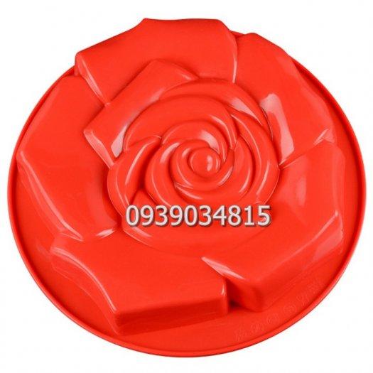 Khuôn silicon làm rau câu, làm bánh hoa hồng đại - Loại 30 cm6