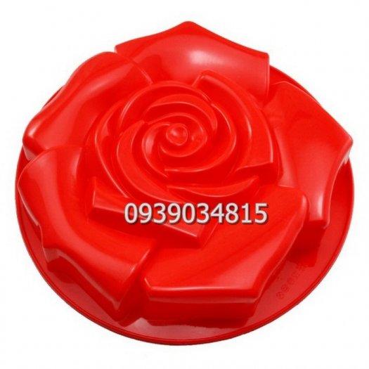 Khuôn silicon làm rau câu, làm bánh hoa hồng đại - Loại 30 cm5