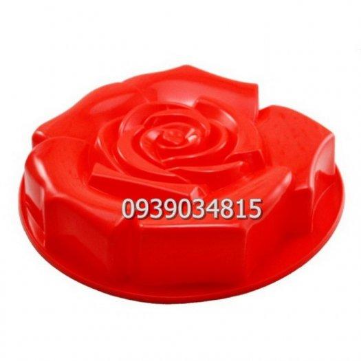 Khuôn silicon làm rau câu, làm bánh hoa hồng đại - Loại 30 cm4