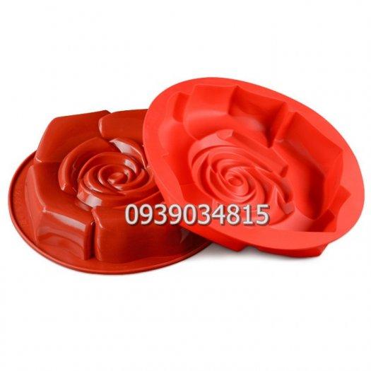 Khuôn silicon làm rau câu, làm bánh hoa hồng đại - Loại 30 cm3
