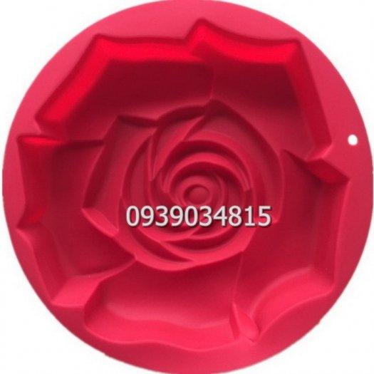 Khuôn silicon làm rau câu, làm bánh hoa hồng đại - Loại 30 cm2