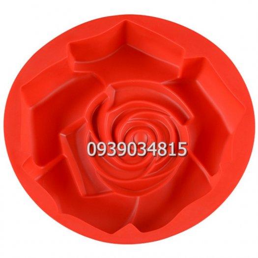 Khuôn silicon làm rau câu, làm bánh hoa hồng đại - Loại 30 cm1