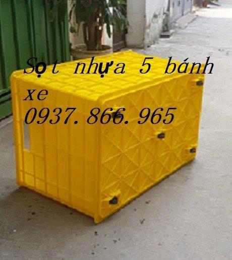Bán thùng nhựa đặc có bánh xe( thùng nhựa cơ khí), thùng nhựa có bánh xe2