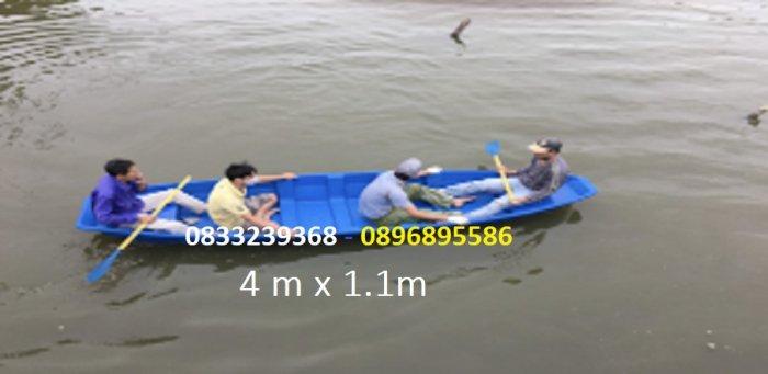 Thuyền composite 4,5 người, combo mái che nắng che mưa, áo phao5