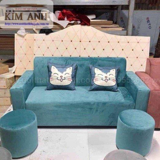 Có nên chọn mua sofa vải nhung cho phòng khách hay không ?3