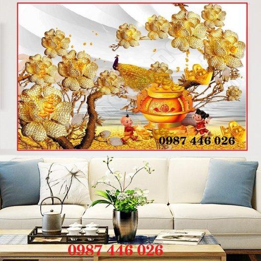 Tranh gạch men hoa 3d HP790012