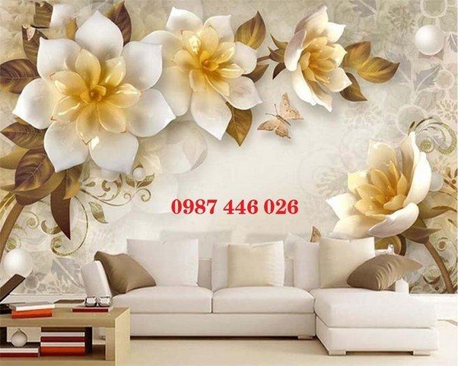 Tranh gạch men hoa 3d HP790011