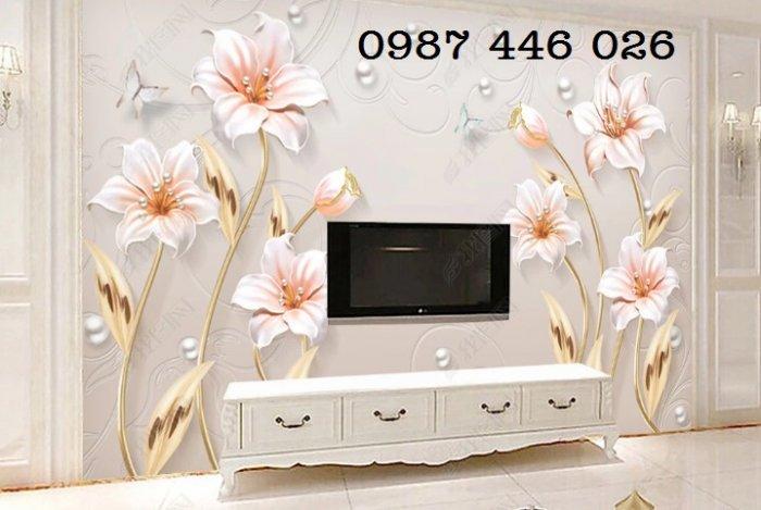 Tranh gạch men hoa 3d HP790010