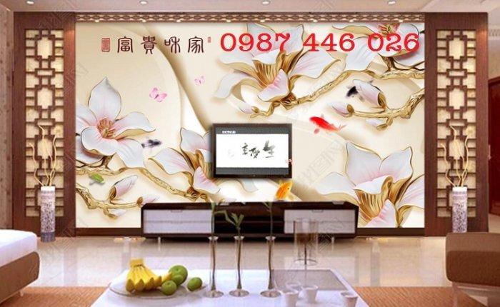 Tranh gạch men hoa 3d HP79006