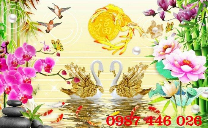 Tranh gạch men hoa 3d HP79000