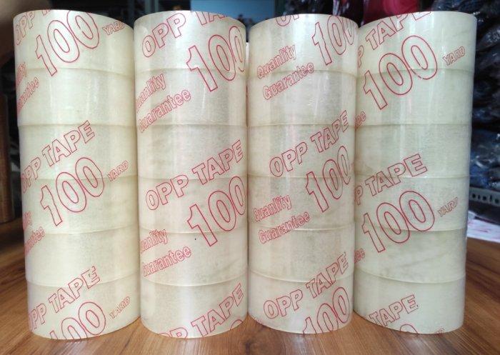 Băng Keo Trong và Đục Dán Thùng 100 Yard 48mm 1 kg2