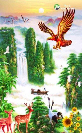 Tranh gạch 3d chim đại bàng - VC21