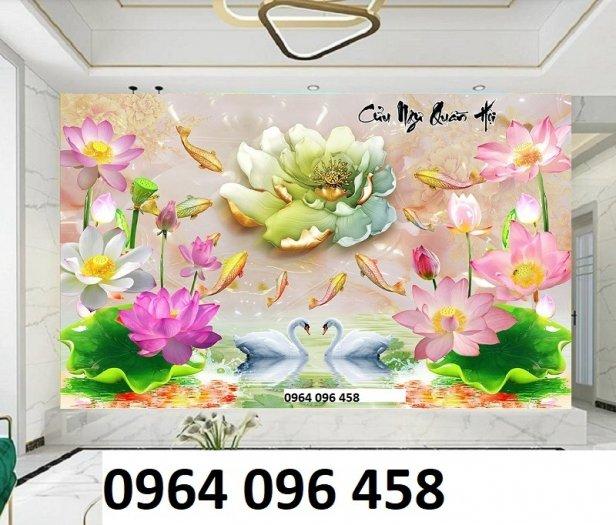 Tranh gạch men 3d hoa sen - XBV3312