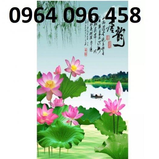 Tranh gạch men 3d hoa sen - XBV333