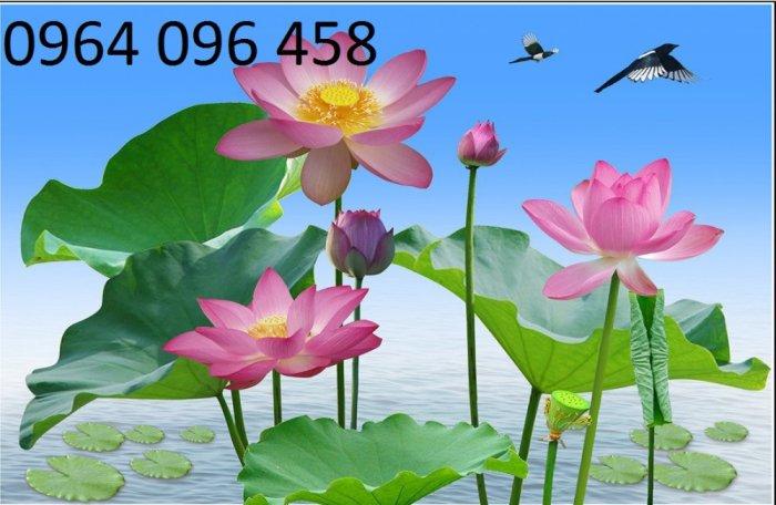 Tranh gạch men 3d hoa sen - XBV331