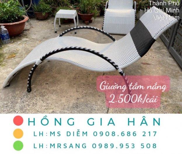 Ghế mây nhựa thư giãn Hồng Gia Hân GM170
