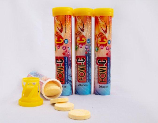 Viên sủi C bổ sung đến 500mg vitamin C - FOVI-C / Tuýp 20 viên3