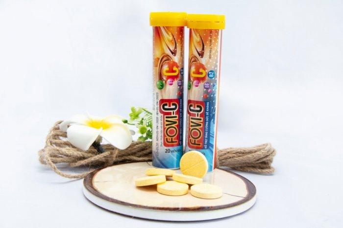 Viên sủi C bổ sung đến 500mg vitamin C - FOVI-C / Tuýp 20 viên2