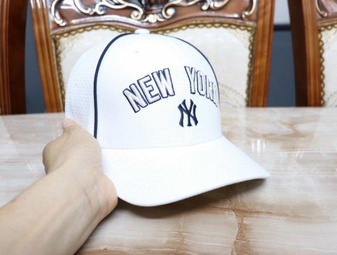 Nón kết nam nữ thời trang cao cấp New York trắng đen5
