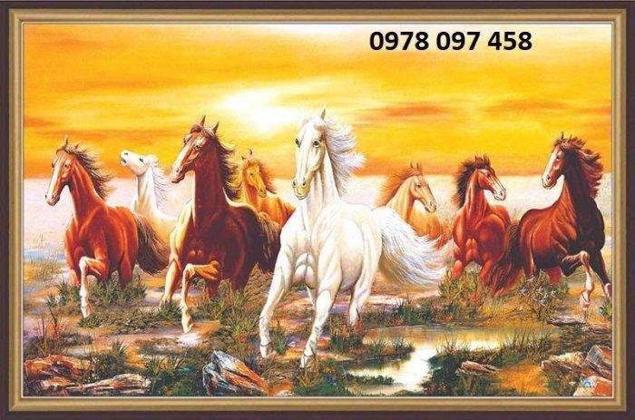 Tranh ngựa - tranh gạch men cao cấp0