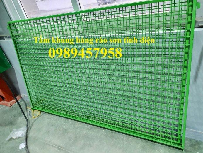 Lưới thép hàng rào có sẵn D5 50x150, D5 50x200 mạ kẽm, Lưới hàng rào mạ kẽm nhúng nóng2