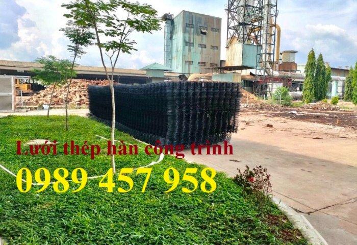 Lưới thép đổ bê tông phi 4 150x150, Thép đổ sàn phi 4 a 200x200, Lưới chống nóng D4 200x20012