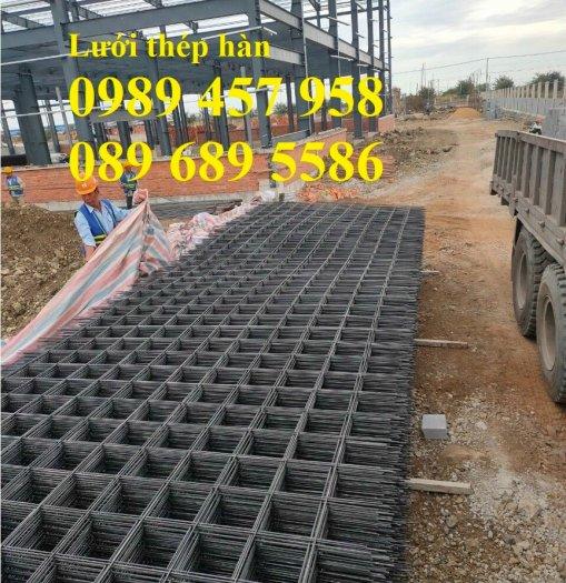 Lưới thép đổ bê tông phi 4 150x150, Thép đổ sàn phi 4 a 200x200, Lưới chống nóng D4 200x2002